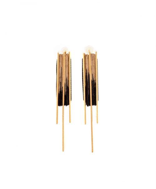 M stripe earings