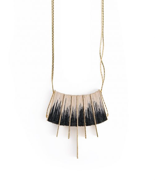 Shibori necklace