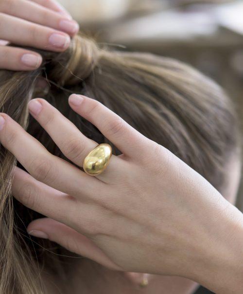 טבעת טיפה GF מבריק