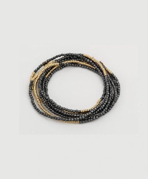6-Bracelet 8 rounds hematite gf 01