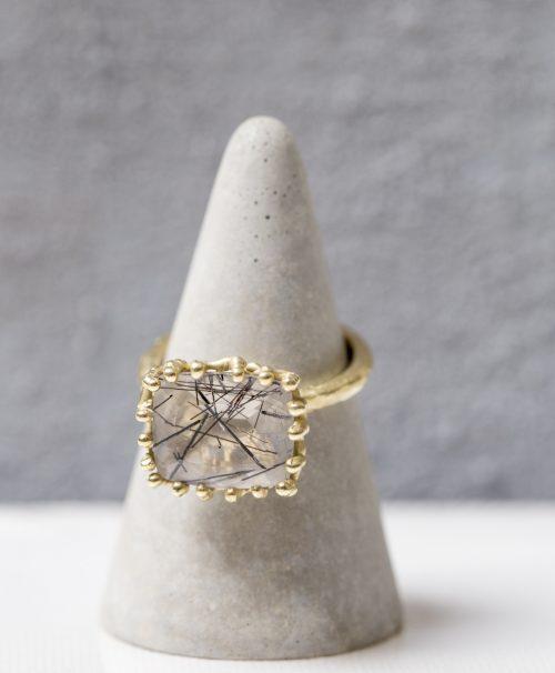 טבעת רוטיל קוורץ פרופיל