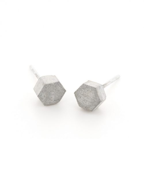 05-Concrete_Hexagon_Studs-BAARAJewlery