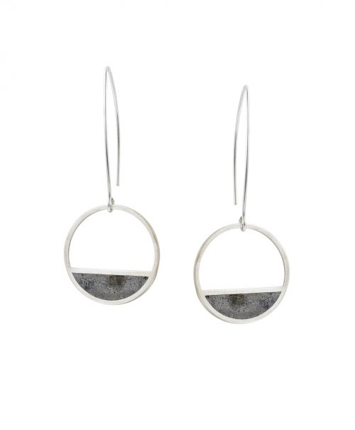 23-Balance_Concrete_Earrings-Silver-BAARAJewelry1